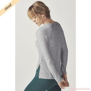 [Fabletics] White Black Long Sleeve Lindsey Top
